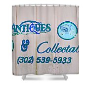 Lavender And Lace Sign - Clarksville Delaware Shower Curtain