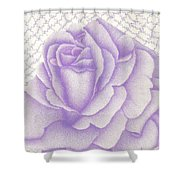Lavender And Lace Shower Curtain