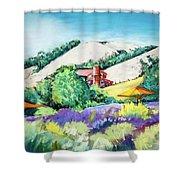 Lavender At Matanzas Creek Shower Curtain