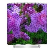 Lavender Azaleas Shower Curtain