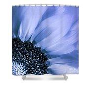 Lavender Blue Silk Shower Curtain