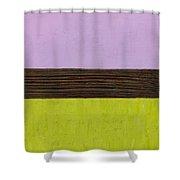 Lavender Brown Olive Shower Curtain