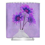 Lavender Chrysanthemum Still Life Shower Curtain