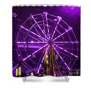 Lavender Ferris Wheel Shower Curtain