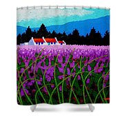 Lavender Field - County Wicklow - Ireland Shower Curtain