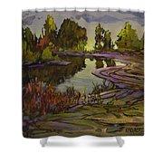 Lavender Field, Langley B C Shower Curtain