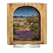 Lavender Fields And Village Of Provence Shower Curtain