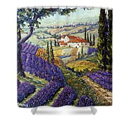 Lavender Fields Tuscan By Prankearts Fine Arts Shower Curtain