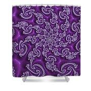 Lavender Fractal  Shower Curtain