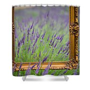Lavender Frame Shower Curtain