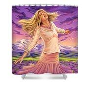 Lavender - Heal Through Joy Shower Curtain