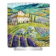 Lavender Hills Tuscany By Prankearts Fine Arts Shower Curtain