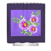 Lavender Peonies Shower Curtain
