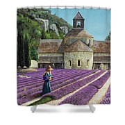 Lavender Picker - Abbaye Senanque - Provence Shower Curtain