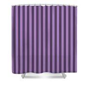 Lavender Purple Striped Pattern Design Shower Curtain
