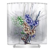 Repose In Lavender  Shower Curtain