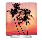 Lavender Silhouettes Shower Curtain