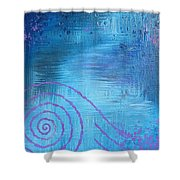 Lavender Spiral  Shower Curtain