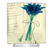 Lavender Tied With A Bow Shower Curtain