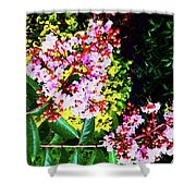 Lavender Upon Gold Shower Curtain