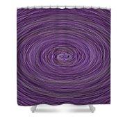 Lavender Vortex Shower Curtain