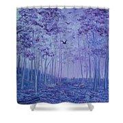 Lavender Woods Shower Curtain