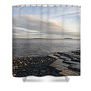 Lavernock Coast Shower Curtain