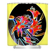 Lavish Lilies 2 Shower Curtain