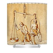 Lavoisiers Respiration Experiments Shower Curtain