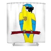 Law Macaw - Yellow Shower Curtain
