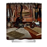 Lawyer - A Lawyers Desk Shower Curtain