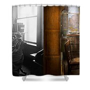 Lawyer - Always Taking Notes - 1902 - Side By Side Shower Curtain