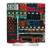 Lay It Between The Lines  Shower Curtain