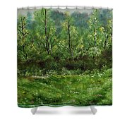 Lay You Down In Soft Dreams Shower Curtain