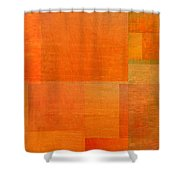 Layer Study - Orange Shower Curtain