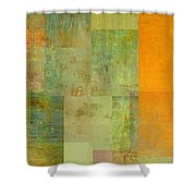 Layer Study - Turquoise Shower Curtain