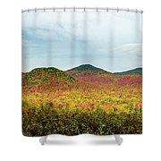 Layered Adirondack Colors Shower Curtain