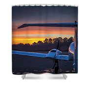 Layered Sunrise On The Ramp Shower Curtain