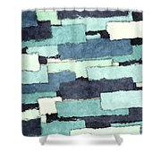 Layers Of Colors Pattern Shower Curtain