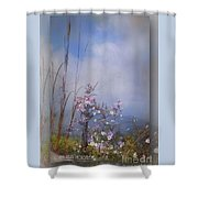 Layers Of Wildflowers Shower Curtain