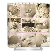 Layla  Collage Shower Curtain