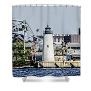 Lazaretto Point Lighthouse Shower Curtain