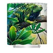 Lazin' Iguana Shower Curtain