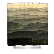 Lazy Afternoon In Beskid Shower Curtain