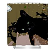 Lazy Cat Shower Curtain