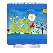 Lazy Daisy Shower Curtain