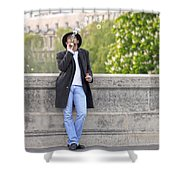 Lazy Day In Paris Shower Curtain