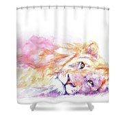 Lazy Days - Lion Shower Curtain
