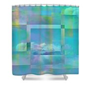 Lazy Days Pastel Squared Shower Curtain