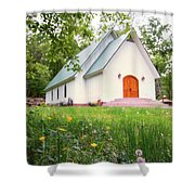 Lazy G Church Shower Curtain